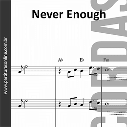 Never Enough | Quarteto de Cordas
