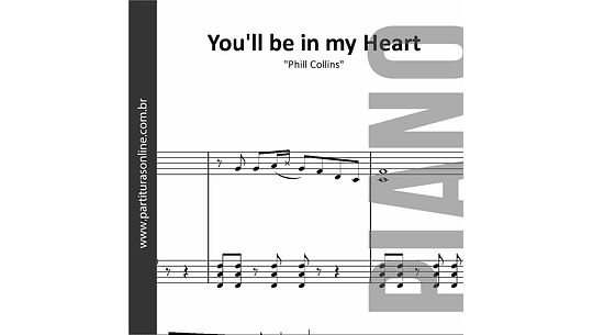 You'll be in my Heart | Para Piano