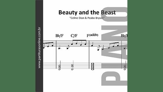 Beauty and the Beast - A bela e a Fera | para Piano