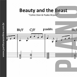 Beauty and the Beast - A bela e a Fera | para Piano