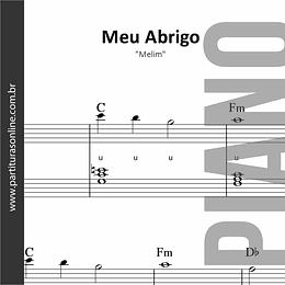 Meu Abrigo | Melim - para Piano