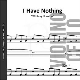 I Have Nothing | Whitney Houston - Violino & Violoncelo