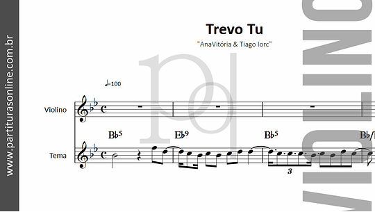Trevo Tu | AnaVitória & Tiago Iorc - para Violino