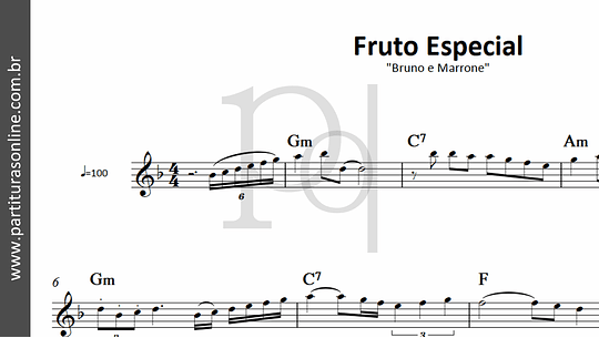 Fruto Especial   Bruno e Marrone