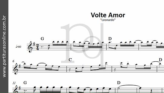 Volte Amor | Leonardo