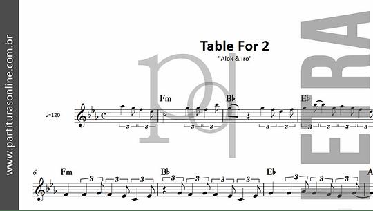 Table For 2   Alok & Iro