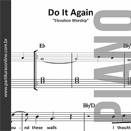 Do It Again | Elevation Worship - para Piano