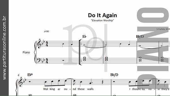 Do It Again | Elevation Worship - para Piano