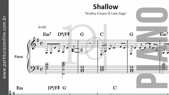 Shallow | Bradley Cooper & Lady Gaga - para Piano