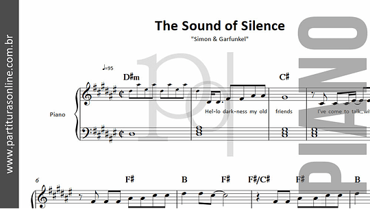 The Sound of Silence | para Piano