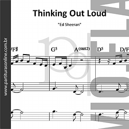 Thinking Out Loud | Flauta e Violinos