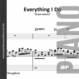 Everything I Do | para Piano
