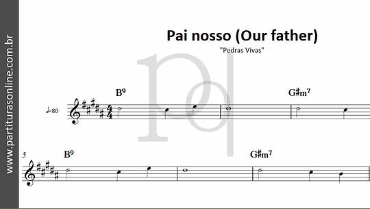 Pai nosso (Our father) | Pedras Vivas