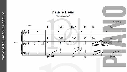 Deus é Deus | para Piano
