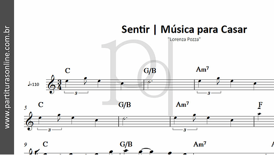 Sentir . Música para Casar | Lorenza Pozza