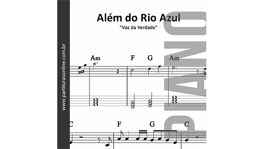 Além do Rio Azul | para Piano