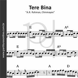 Tere Bina | A.R. Rahman, Chinmayee
