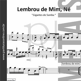 Lembrou de Mim, Né | Gigantes do Samba - sessão de metais