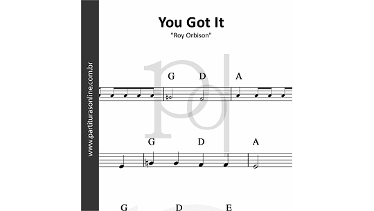 You Got It | Roy Orbison