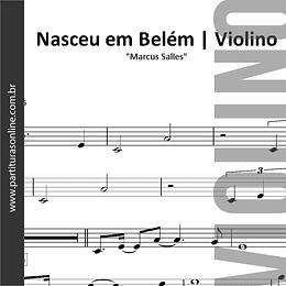 Nasceu em Belém | Arranjo para Violino