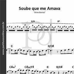Soube que me Amava | Aline Barros