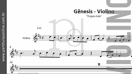 Gênesis | arranjo para Violino