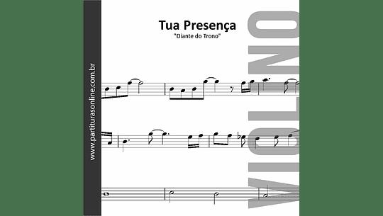 Tua Presença   arranjo para Violino