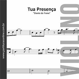 Tua Presença | arranjo para Violino