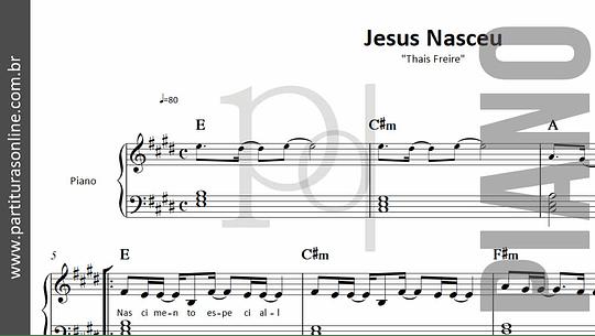 Jesus Nasceu | para Piano