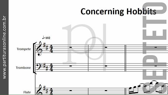 Concerning Hobbits | para Cordas . Flauta . Metais