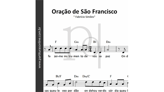 Oração de São Francisco | Fabrício Simões