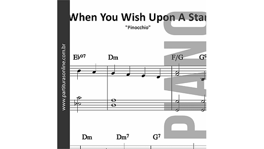 When You Wish Upon A Star | para Piano