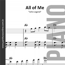All of Me | para Piano