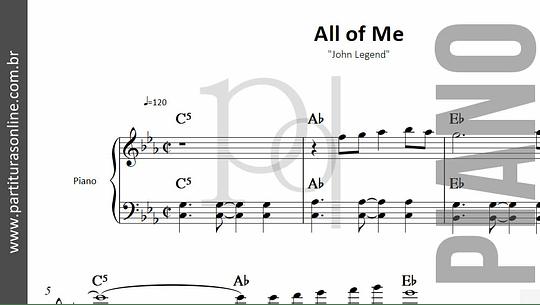 All of Me | para Piano