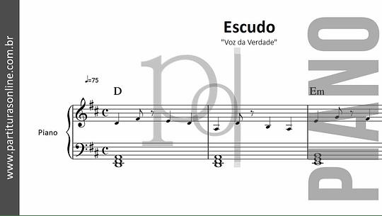 Escudo | Voz da Verdade  - para Piano