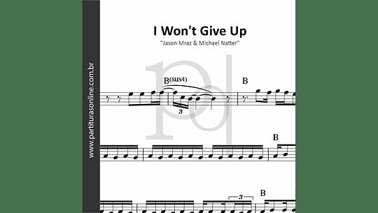 I Won't Give Up | Jason Mraz & Michael Natter