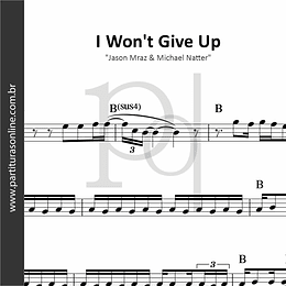 I Won't Give Up | Jason Mraz & Michael Natter