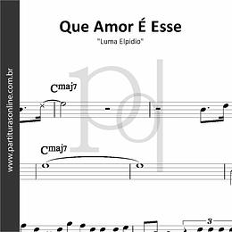 Que Amor É Esse | Luma Elpidio