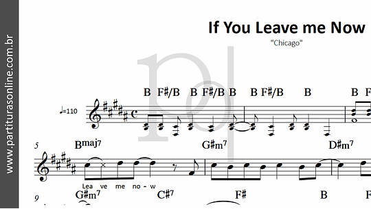 If You Leave me Now | Chicago