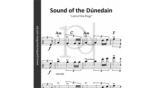 Sound of the Dúnedain | para Cordas e Flauta