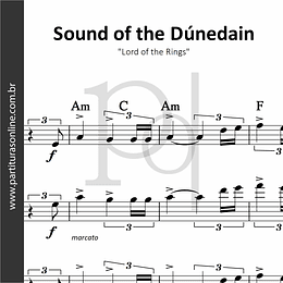 Sound of the Dúnedain | para Cordas e Flauta