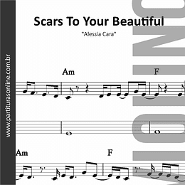 Scars To Your Beautiful | arranjo para Violino