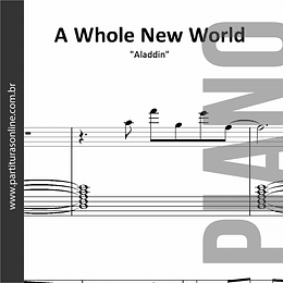 A Whole New World | para Piano