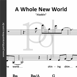 A Whole New World | Aladdin