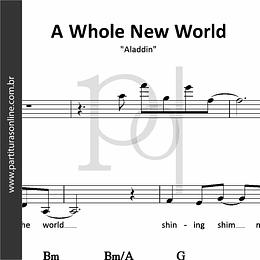 A Whole New World   Aladdin