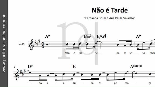 Não é Tarde | Fernanda Brum e Ana Paula Valadão