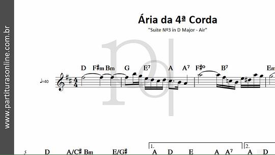 Ária da 4ª Corda | Suite Nº3 in D Major - Air