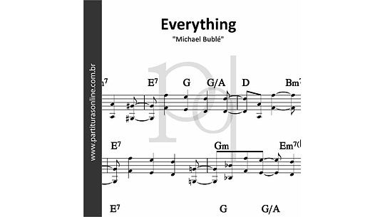Everything | Michael Bublé