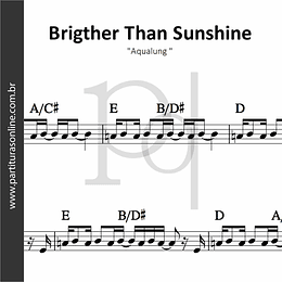 Brigther Than Sunshine | Aqualung