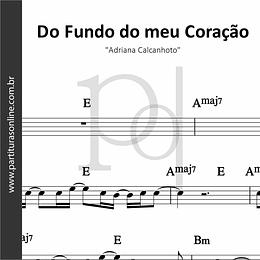 Do Fundo do meu Coração | Adriana Calcanhoto